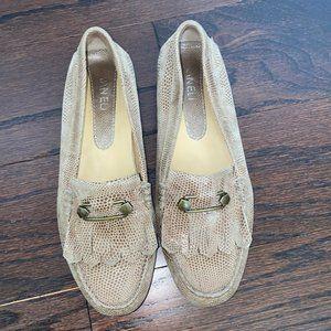 VANELi Women's Taupe Snake Print Loafers